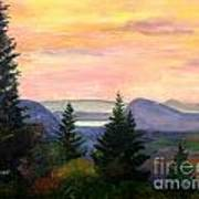 Willoughby Gap From Burke Mountain Art Print