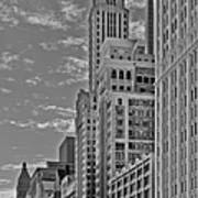 Willoughby Tower And 6 N Michigan Avenue Chicago  Print by Christine Till