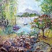Willow By The Sea Art Print