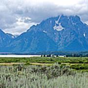 Willow Flats Overlook In Grand Teton National Park-wyoming   Art Print