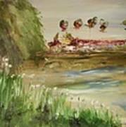 Willow Lake Park Art Print