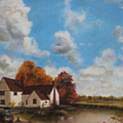 Willy Lott's Cottage Art Print by Cecilia Brendel