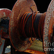 Winch - Cable - Crank - Boats Art Print
