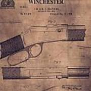 Winchester Rifle Patent Art Print