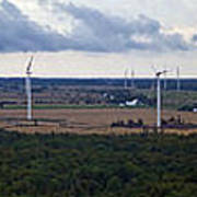 Wind Energy Panorama Art Print