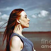 Wind In Her Hair Art Print by Craig B