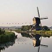 Wind Mill On A Canal, Holland Art Print