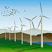 Wind Power Art Print