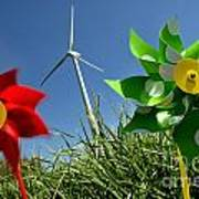 Wind Turbines And Toys Art Print