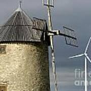 Wind Turbines And Windfarm Art Print