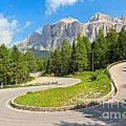 Winding Road To Pordoi Pass Art Print
