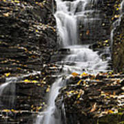 Winding Waterfall Art Print by Christina Rollo