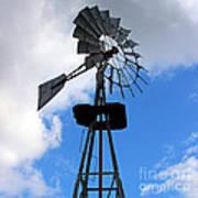 Windmill And Sky Art Print