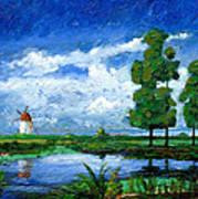Windmill, Holland, 2006 Oil On Board Art Print