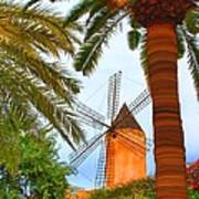 Windmill In Palma De Mallorca Art Print