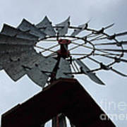 Windmill In The Clouds Art Print