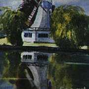 Windmill In The Willows Art Print