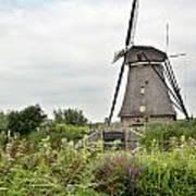 Windmill Of Kinderdijk Art Print