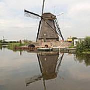 Windmill Reflection Art Print