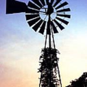 Windmill Silhouette Art Print
