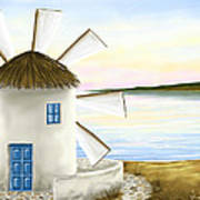 Windmill Art Print by Veronica Minozzi