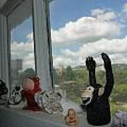 Window Buddies Art Print