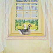 Window Geese Art Print