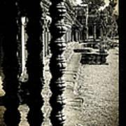 Window In Angkor Wat Art Print