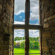Window In Linlithgow Palace With View To A Beautiful Scottish Landscape Art Print