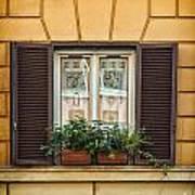 Window In Rome Art Print