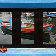 Window Into Greece 6 Art Print