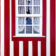 Window On Stripes Art Print by Carlos Caetano