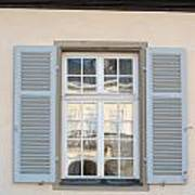 Window Opposite Palace Of The Solitude In Stuttgart - Germany Art Print