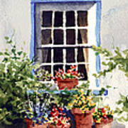 Window With Blue Trim Art Print