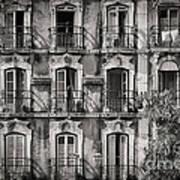 Windows And Balconies 2 Art Print