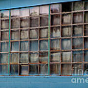 Windows In Blue Building 3 Art Print