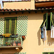 Windows, Italy Art Print