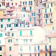 Windows Of Cinque Terre Italy Art Print