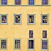 Windows Of Florence Art Print
