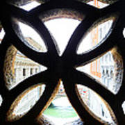 Windows Of Venice View From Palazzo Ducale Art Print
