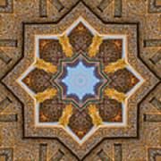 Windows To Autumn Mandala 3 Art Print