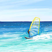 Windsurf Art Print