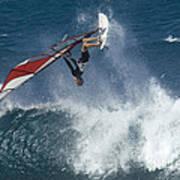 Windsurfer Hanging In Art Print