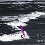 Windsurfing Man Art Print