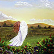 Windswept Angel Art Print