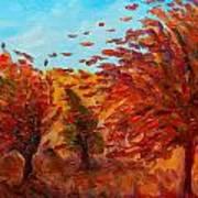 Windy Autumn Day Art Print