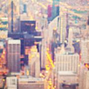 Windy City Lights - Chicago Art Print