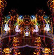 Windy Night Mirror Image Art Print