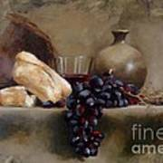 Wine And Bread Art Print