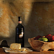 Wine And Cheese 1 Art Print